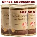 OFFRE GOURMANDE - Lot de 3 boites de 2 cuisses de confit de canard - LABEL ROUGE
