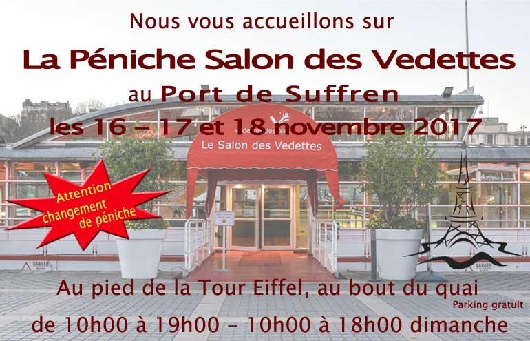 Nous serons présents à Paris les 16 - 17 et 18 novembre 2018